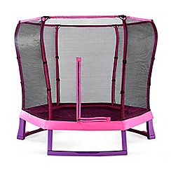 Plum - Pink and purple 7ft junior jumper spring safe trampoline and enclosure