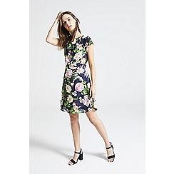 ANGELEYE - Navy floral print skater mini dress