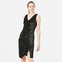 ANGELEYE - Black Velvet Bodycon Dress