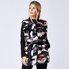 ANGELEYE - Multicoloured sleeveless faux fur gilet