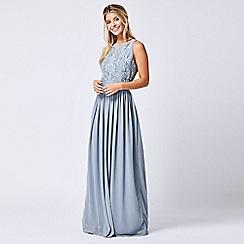 ANGELEYE - Embellished Sleeveless Grey Maxi Dress
