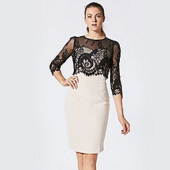 ANGELEYE - Black lace overlay pencil dress