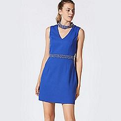 ANGELEYE - Blue beaded chocker neck dress