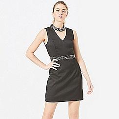 ANGELEYE - Black beaded chocker neck dress