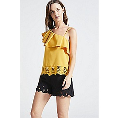 ANGELEYE - Mustard one shoulder strappy top