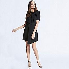 ANGELEYE - Black short sleeve mini dress with matching belt