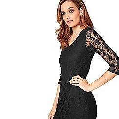 James Lakeland - Black lace v-neck knee length dress