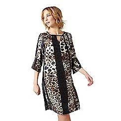 James Lakeland - Brown leopard print dress