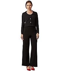 James Lakeland - Black wide leg suit trouser