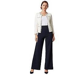 James Lakeland - Navy wide leg suit trouser