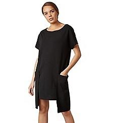 James Lakeland - Black large pocket mini tunic dress