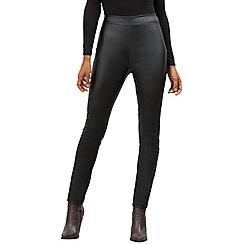James Lakeland - Black faux leather trousers