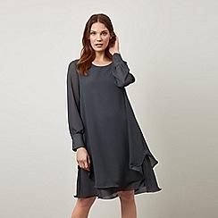 James Lakeland - Grey Long Sleeve Wave Hem Dress