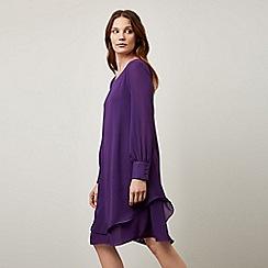 James Lakeland - Purple Long Sleeve Wave Hem Dress