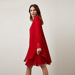 James Lakeland - Dark Red Long Sleeve Wave Hem Dress
