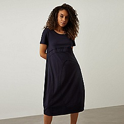 James Lakeland - Navy Cotton Midi Dress