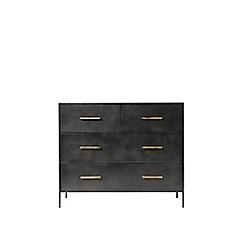 Swoon - Gunmetal 'Stepney' chest of drawers
