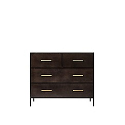 Swoon - Deep bronze 'Stepney' chest of drawers