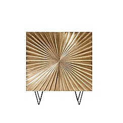 Swoon - Brass and mango wood 'Ziggy' cabinet