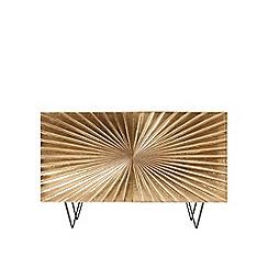 Swoon - Brass and mango wood 'Ziggy' sideboard