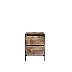 Swoon - Mango wood and black 'Roland' bedside table