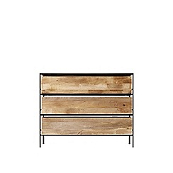 Swoon - Mango wood and black 'Roland' chest of drawers