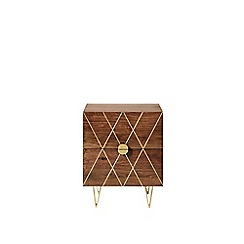 Swoon - Acacia and brass 'Wray' bedside table