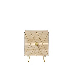 Swoon - Mango wood and brass 'Wray' bedside table