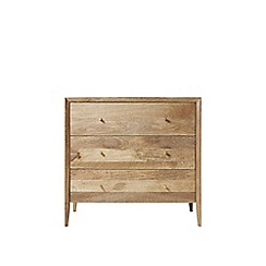 Swoon - Natural mango wood and brass 'Valente' chest of drawers