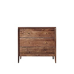 Swoon - Dark mango wood and brass 'Valente' chest of drawers