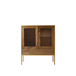 Swoon - Antiqued mango wood and brass 'Henkel' cabinet