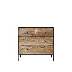 Swoon - Mango wood and matt charcoal 'Henkel' chest of drawers