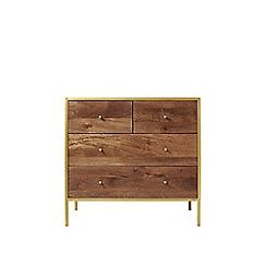 Swoon - Mango wood and metallic 'Henkel' chest of drawers