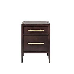 Swoon - Deep bronze 'Ash' bedside table