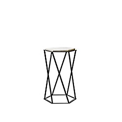 Swoon - Marble and black 'Kay' side table