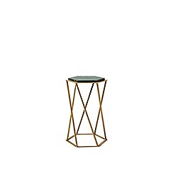 Swoon - Green marble and steel 'Kay' side table