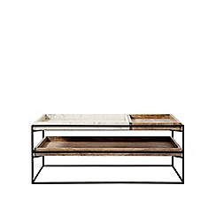 Swoon - White marble and black 'Hansel' coffee table
