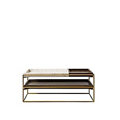 Swoon - White marble and brass 'Hansel' coffee table