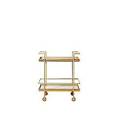 Swoon - Marble and antique brass 'Salina' bar trolley