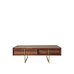 Swoon - Acacia and brass 'Hove' coffee table