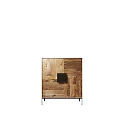 Swoon - Light mango wood and brass 'Banner' cabinet