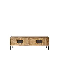 Swoon - Mango wood and charcoal 'Banner' media unit