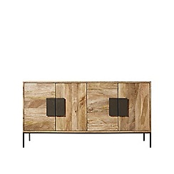 Swoon - Mango wood and charcoal 'Banner' sideboard