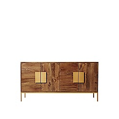 Swoon - Mango wood and antique brass 'Banner' sideboard