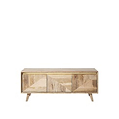 Swoon - Mango wood and brass 'Carlson' media unit