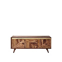 Swoon - Rosewood and brass 'Carlson' media unit