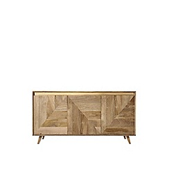 Swoon - Mango wood and brass 'Carlson' sideboard
