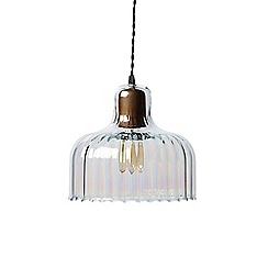 Swoon - Optic lined and pearlescent 'Treviso' wide pendant