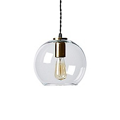Swoon - silver glass 'Lucca' pendant