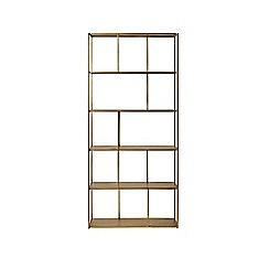 Swoon - Brass 'Aero' large shelving unit
